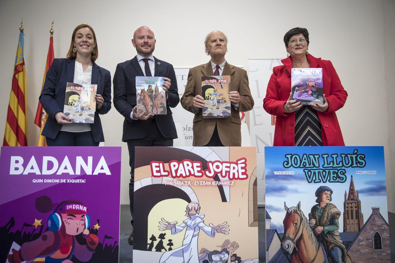 La Diputación et l'Acadèmia de la Llengua ont publié des bandes dessinées sur les traditions et les personnages historiques de Valence.