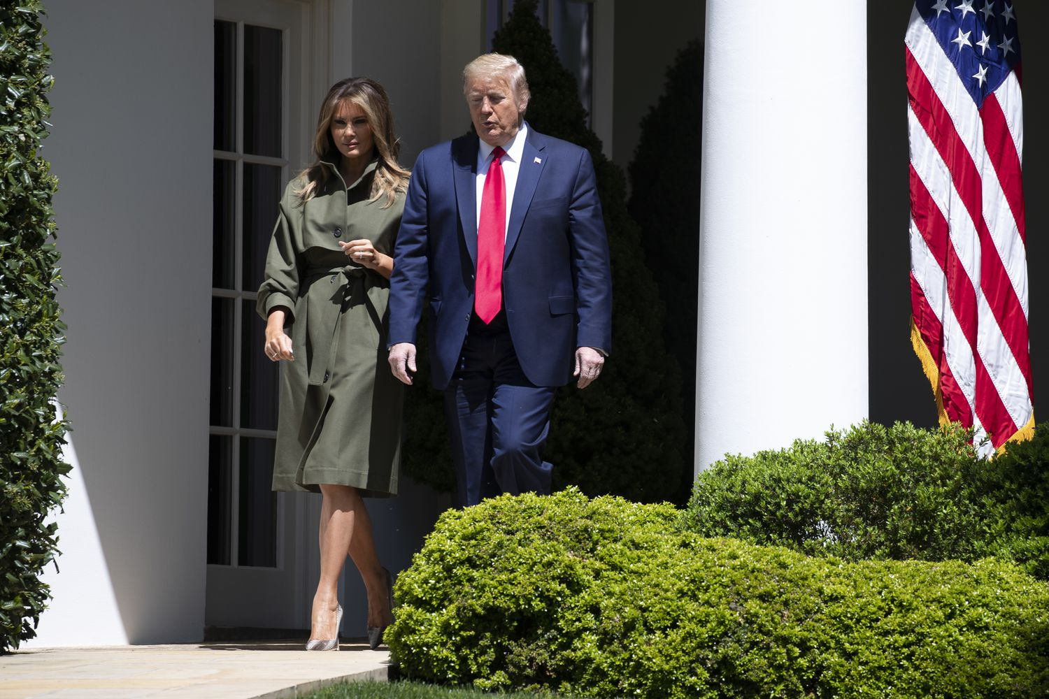 Le couple Trump, à la Maison Blanche.
