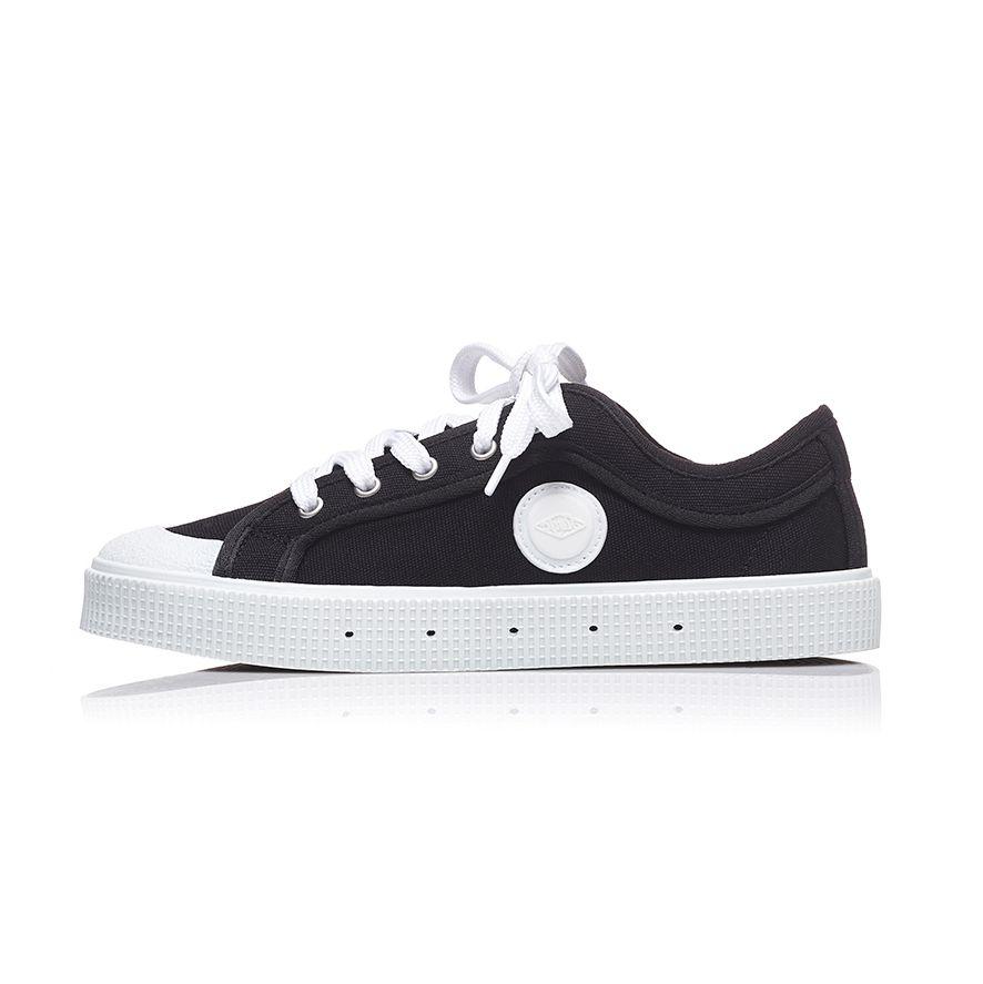 baskets sanjo k200 noires à semelles blanches